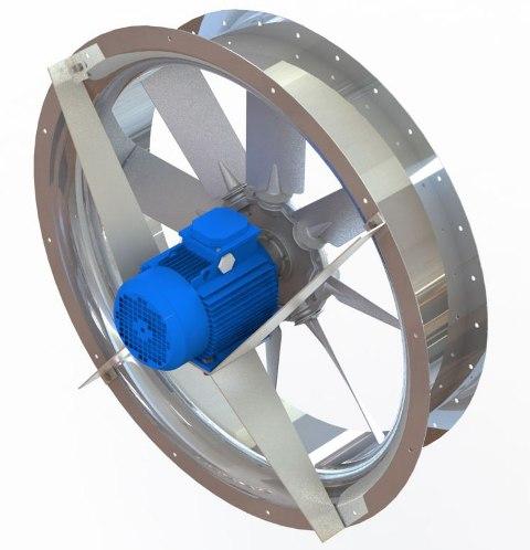 Реверсивные вентиляторы для сушильных камер ADW-R в круглом корпусе