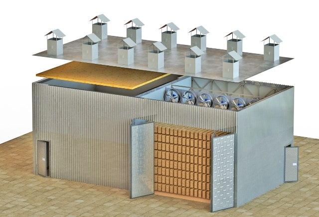 Реверсивные вентиляторы для сушильных камер ADW в круглом корпусе