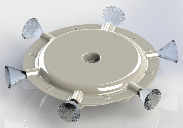 ЕВРОМАШ. Увлажнитель воздуха Humicool-R форсуночный