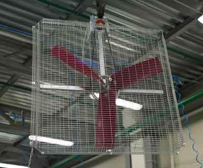 вентилятор для охлаждения животных AF-130K Moo-Moo. применение