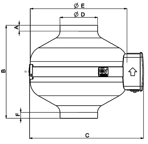 Канальный вентилятор Vortice CA MD