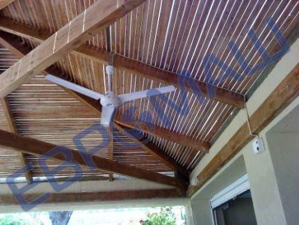 Пример применения потолочного вентилятора HASIO на открытой веранде